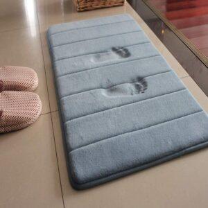 VSUSN Memory Foam Badteppich Anti Rutsch Badematte Absorbent Badvorleger Badezimmerteppich Badematten Duschmatten