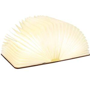 Buchlampe, Pujuas Buch Luminous Folding Magnetic Lampe Buch Hellgelb Warm Autonomie 8 Stunden 250 Lumen