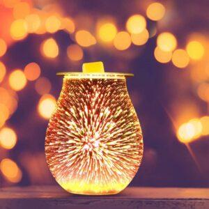 OurLeeme Duftlampen, 3D Aromatherapie Diffusor Ölbrenner Wachs Schmelzbrenner Wärmer Lampe für Home Office Schlafzimmer Geschenke