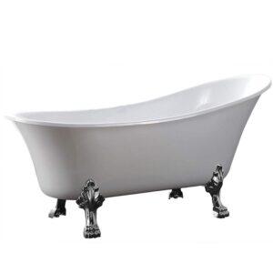 Freistehende Badewanne PARIS Acryl Weiß matt oder glänzend