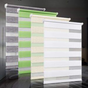 bobodeco Doppelrollo klemmfix ohne Bohren Duo Rollos für Fenster