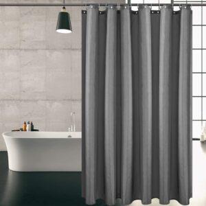 KIPIDA Duschvorhang Textil, Anti-Schimmel, Wasserdichter, Waschbar Anti-Bakteriell Stoff Polyester Badewanne Vorhang