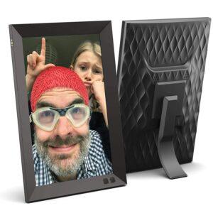 NIX 10.1 Zoll Digitaler Bilderrahmen. HD Fotos in gleicher Diashow