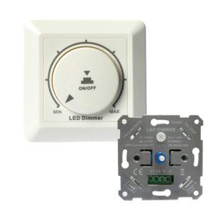 LED-Dimmer-Schalter, Drehdimmer Unterputz Dimmschalter
