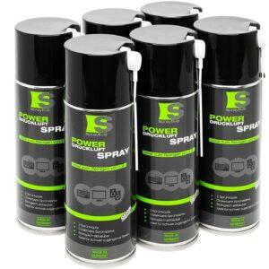 6 x 400ml Spraytive Power Druckluftspray/Druckluftreiniger