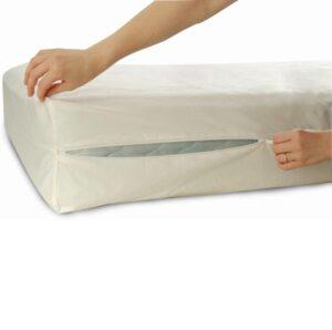 Allersoft Bettwanzen-, Staubmilben- & Allergiekontroll-Matratzenschutzumhüllung aus 100 Prozent Baumwolle