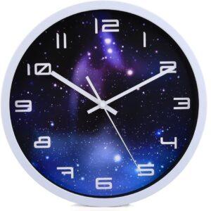 Modern Wanduhr Lautlos, CT-Tribe 12 Zoll Metall Wanduhr Uhr Uhren Wall Clock ohne Tickgeräusche