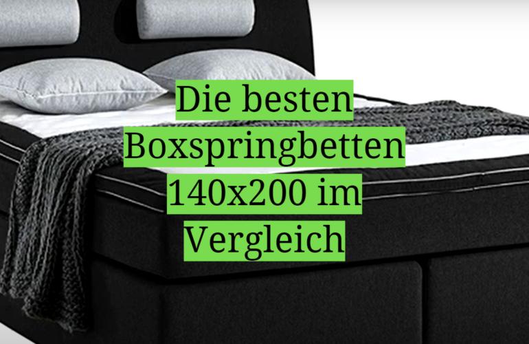 Boxspringbett 140x200 Test 2021: Die besten 5 Boxspringbetten 140x200 im Vergleich