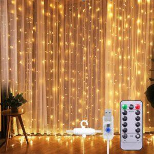 SUNNEST LED Lichterketten Lichtervorhang 300 LEDs