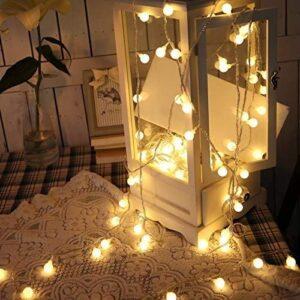 SUPERKIT Globe Lichterkette Warmweiß Außen/Innen LED