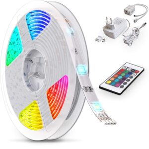 B.K.Licht LED Strip 5m, RGB Streifen, Strips, Band