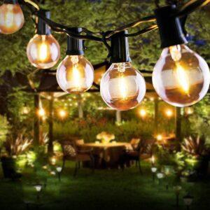 Lichterkette Außen, FOCHEA Lichterkette Glühbirnen 7.6m