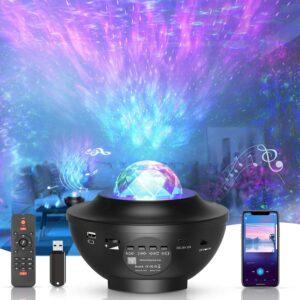 LED-Sternenhimmel Projektor,rotierender Wasserwellen-Sternprojektor